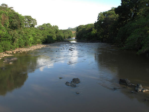 The Rio Tasabara is one of Panama's longest and most beautiful rivers. Scores of communities rely on it for potable water and fishing. Photo by Richard Arghiris