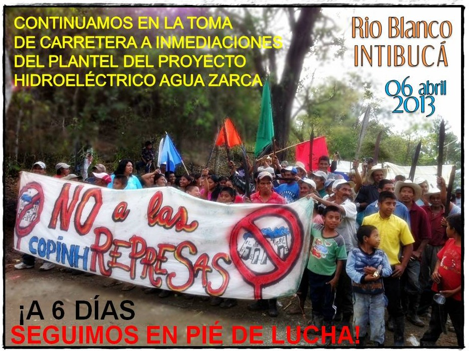 , Honduras: Rio Blanco communities take action to defend rivers, territory, and life