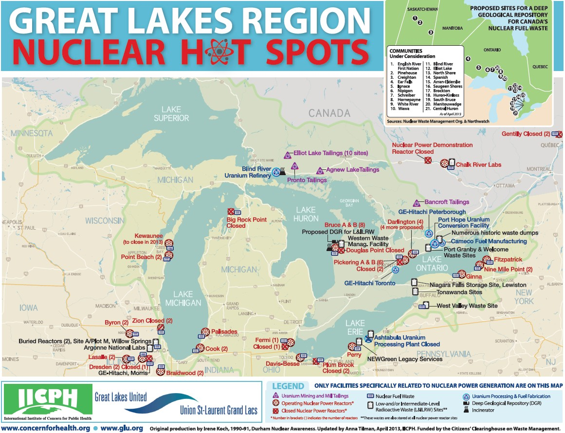 Great Lakes Nuclear Hot Spots