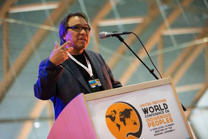 June 11, 2013 - S. James Anaya, Speaking at the WCIP Global Preparatory Meeting in Alta, Norway (Photo: Ben Powless, Global Coordinating Group Media Team)