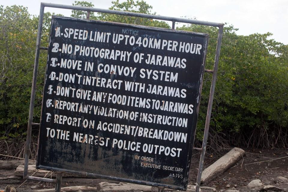 Edge of the Jarawa Tribal Reserve (Photo Credit: www.jlviews.com)