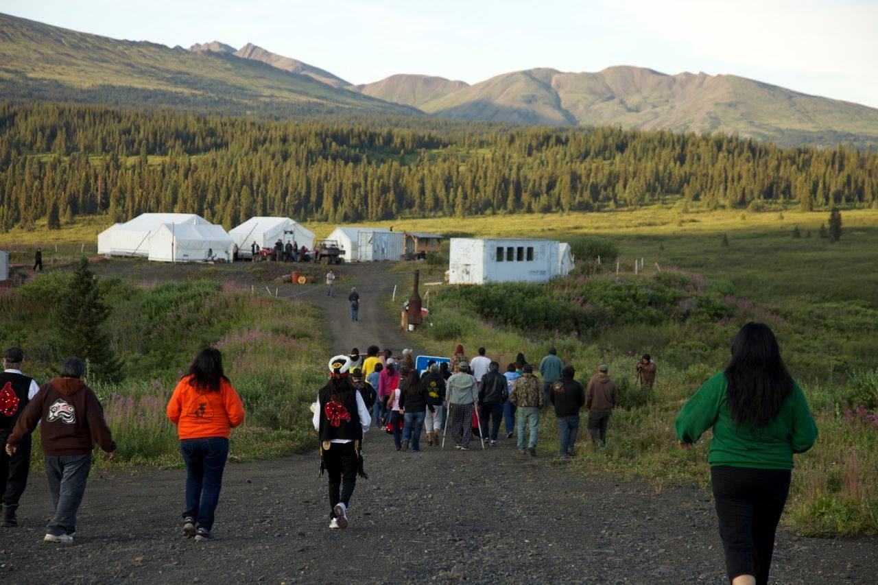 Protest over Coal Mine at Mt.Klappan (Photo: Skeena Watershed Coalition)