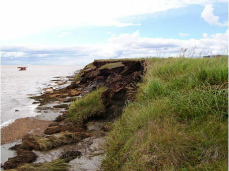 The Native Alaskan village of Newtok had to relocate as its shoreline was washed away because of melting permafrost. (Photo: Newtok Planning Group)