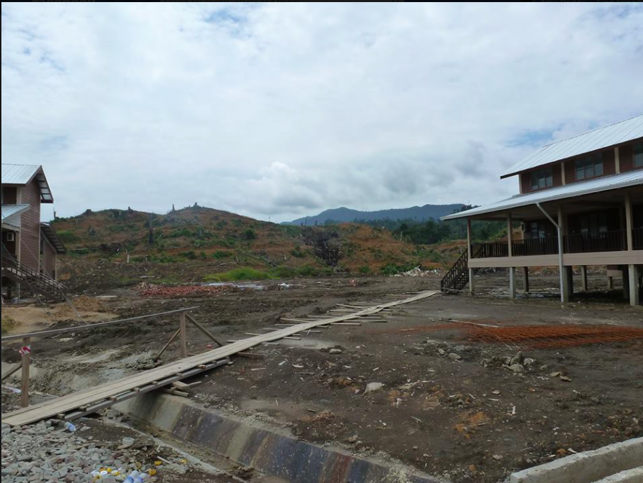Abandoned oil palm plantation and unfinished site – a suitable place to move Penan families?