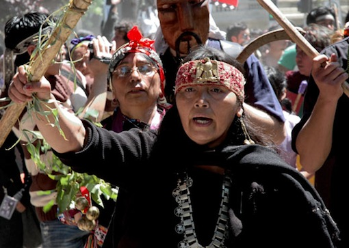 Mapuche protest in Chile. Photo: Global Justice Ecology Project.
