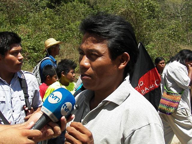 Goejec Miranda president of M10 giving statements to the press 17 february 2014 (Photo: Oscar Sogandares)