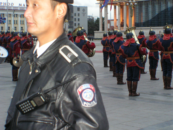 Police and other state security and intelligence agents have become increasingly repressive. Photo at the Parliament building c. keith harmon snow, 2008.