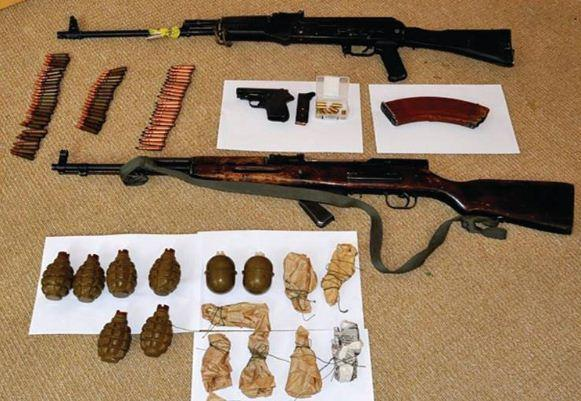 Photos produced by the state security apparatus show weapons, ammunition and explosives alleged to have been confiscated at the time of arrests or discovered during searches later.