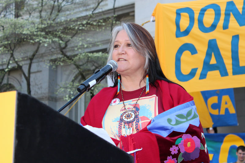 Penny Opal Plant of Idle No More explained how California fracking occurs in the context of indigenous struggles against fracking across the globe.