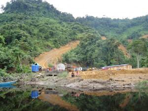 Scene of the mystery fire – logging camp at Sebangan