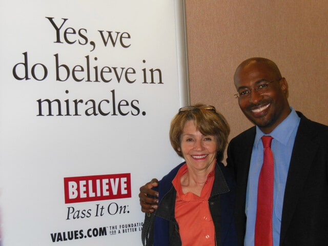 Photograph: Lynn Twist with Van Jones: Values.com