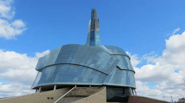 Canadian Museum for Human Rights, The Forks, Winnipeg, Manitoba, Canada (Photo: boblinsdell on flickr. Some Rights Reserved)