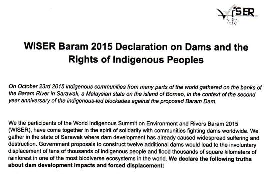 WISER Baram Declaration
