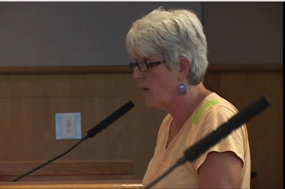 KGMI's SML radio show host, Kris Halterman testifying at July 7, 2015 Whatcom County Council meeting