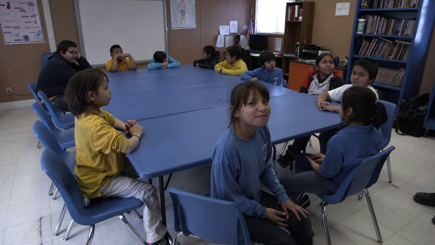Lakota Language Class at Little Wound School (Photo: Florentine Films/Hott Productions)