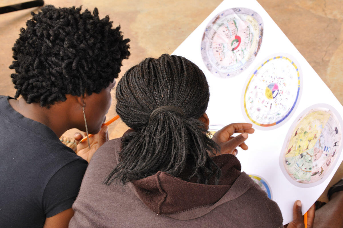 VhaVenda community members and their ecological calendar in Venda Limpopo. (Photo: Will Baxter)