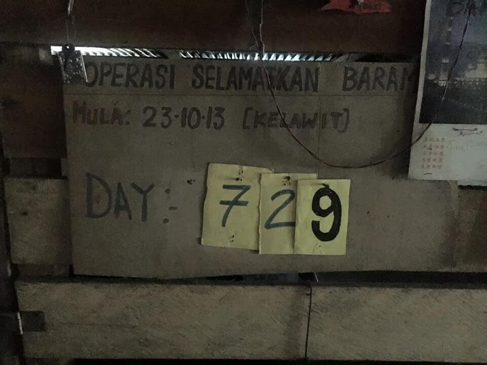 Total Days of Baram Dam Blockade