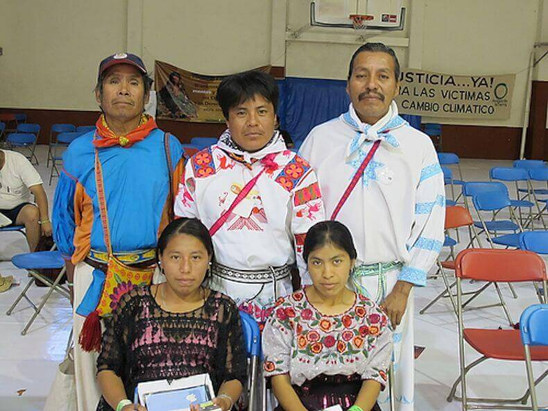 Wixarika delegation to COP 14, together with Maya delegates from Guatemala