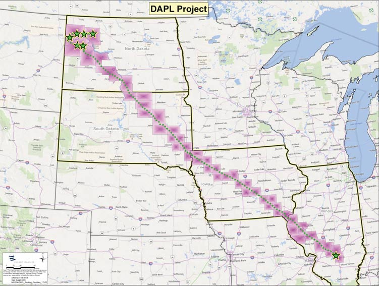 North Dakota Approves Massive Oil Pipeline - North dakota rivers map