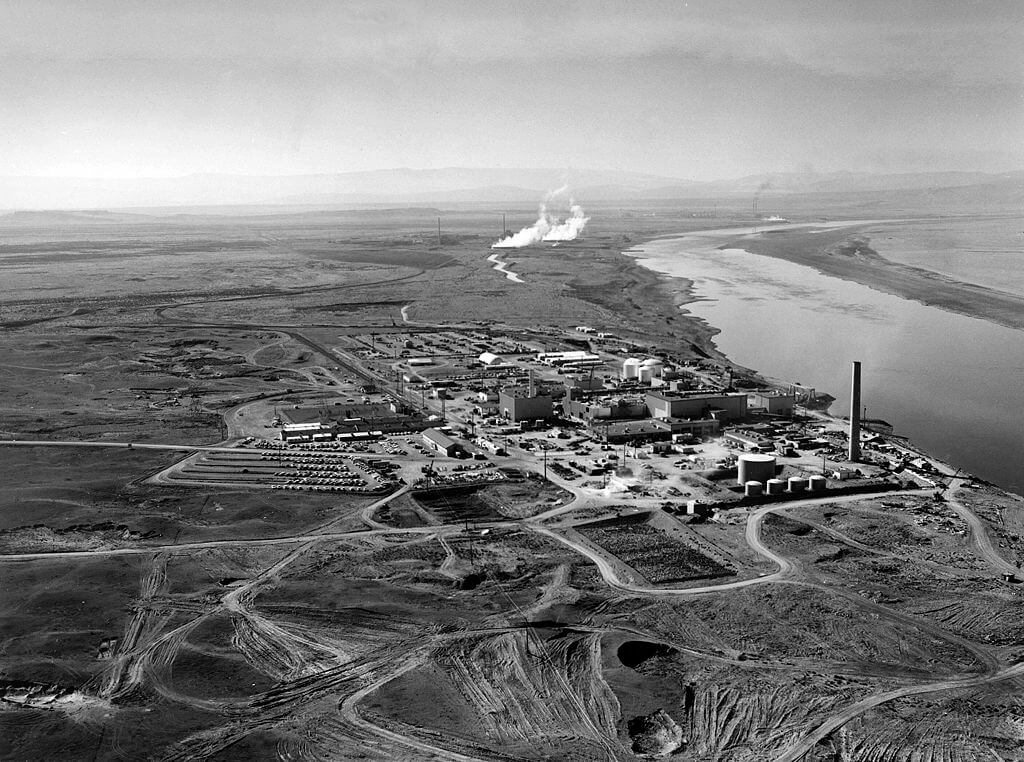 The N-Reactor at the Hanford site along the Columbia River.