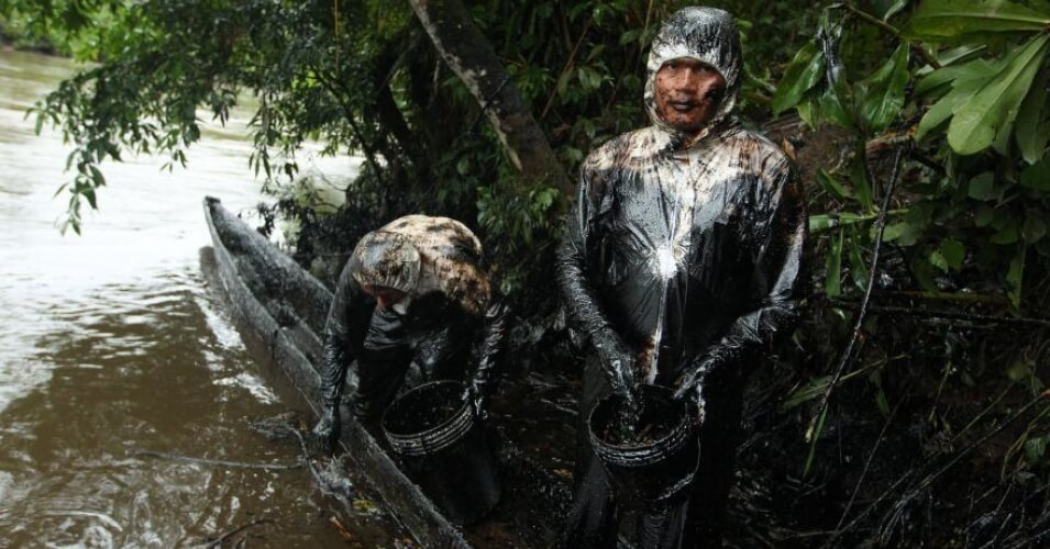 , As Rivers Run Black in Peru, Indigenous Tribes Left Cleaning Big Oil's Disaster