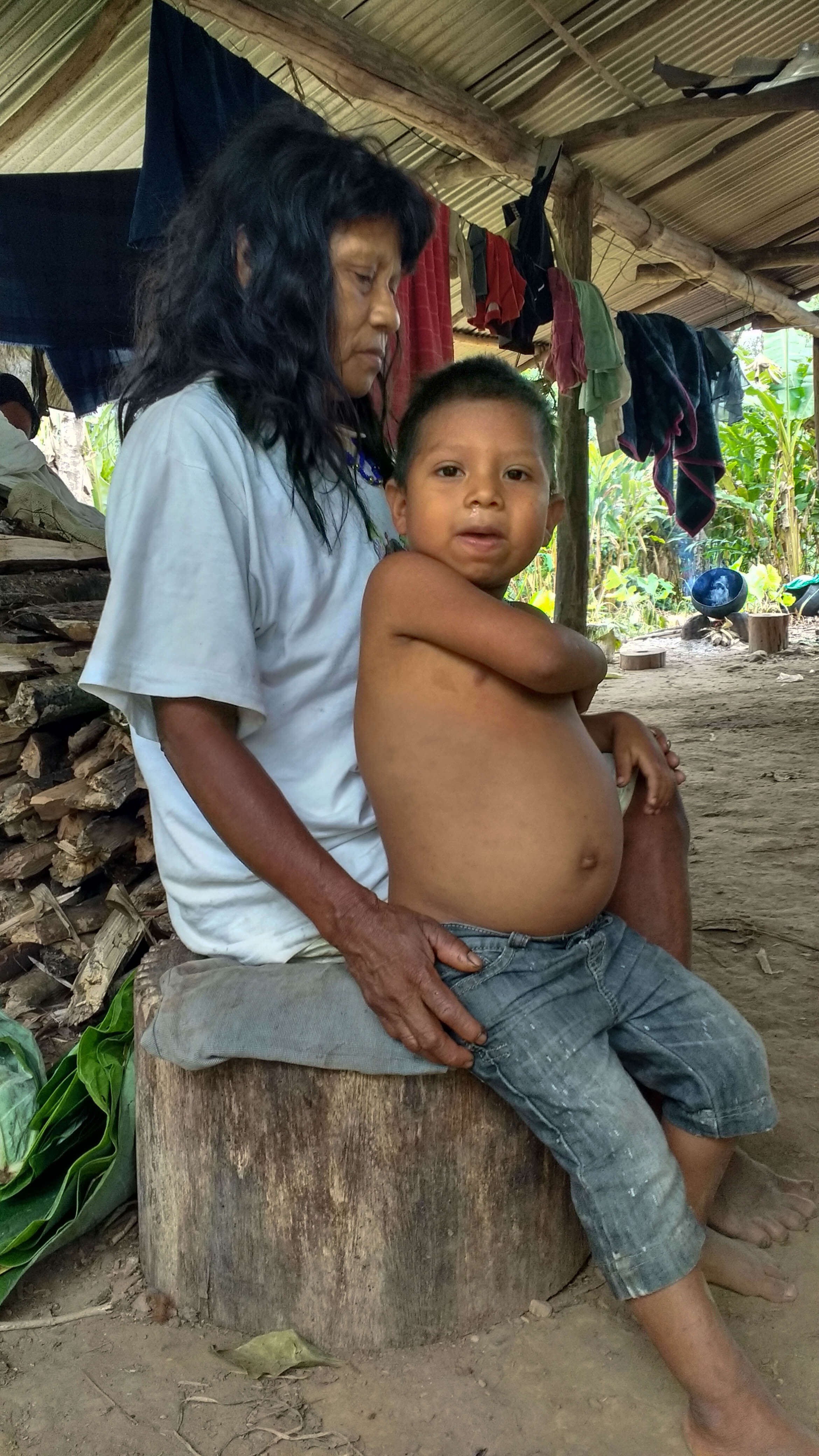 """U'wa locals say the drinking water didn't used to make them sick and that the parasitic worm which has recently contaminated the water supply severely affects indigenous children, swelling their stomachs and leaving them malnourished."""