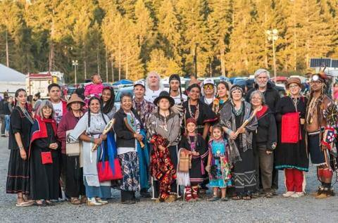 Portland's Native American Youth and Family Center made its debut at the 2016 Paddle to Nisqually. Photo by Zach Krahmer
