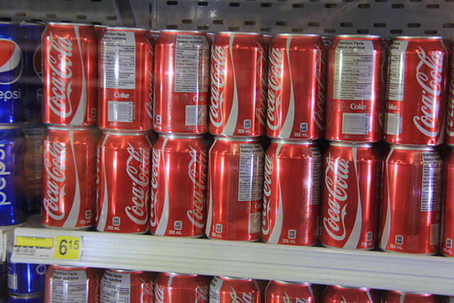 Price of a can of coke is $6.15 (Canadian) in the Northern Store, the only shop in Clyde River. (Photo: Chris Williams)