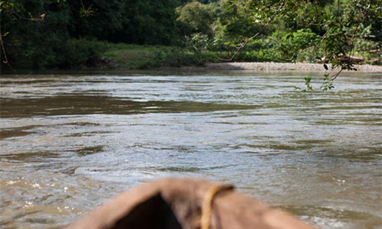 The Tabasara River near the Ngäbe community of Kiad. Photo by Camilo Mejia Giraldo