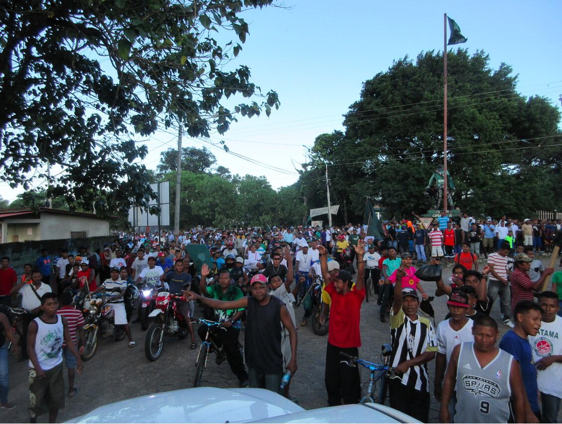 Puerto Cabezas reacts to news of a YATAMA victory. Photo: Brett Spencer