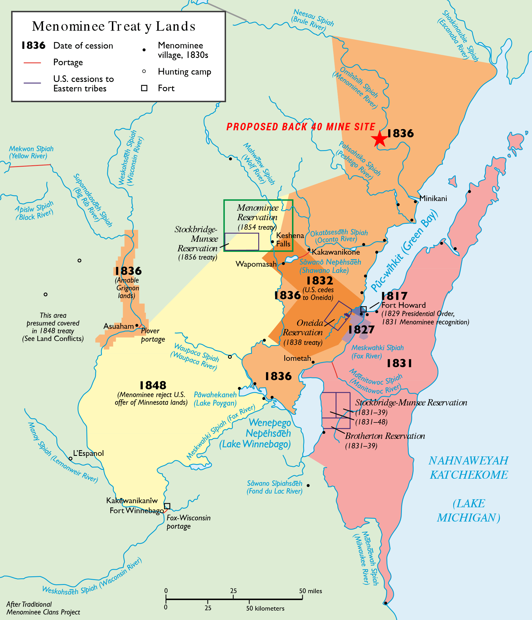 Menominee Treaty Land Map