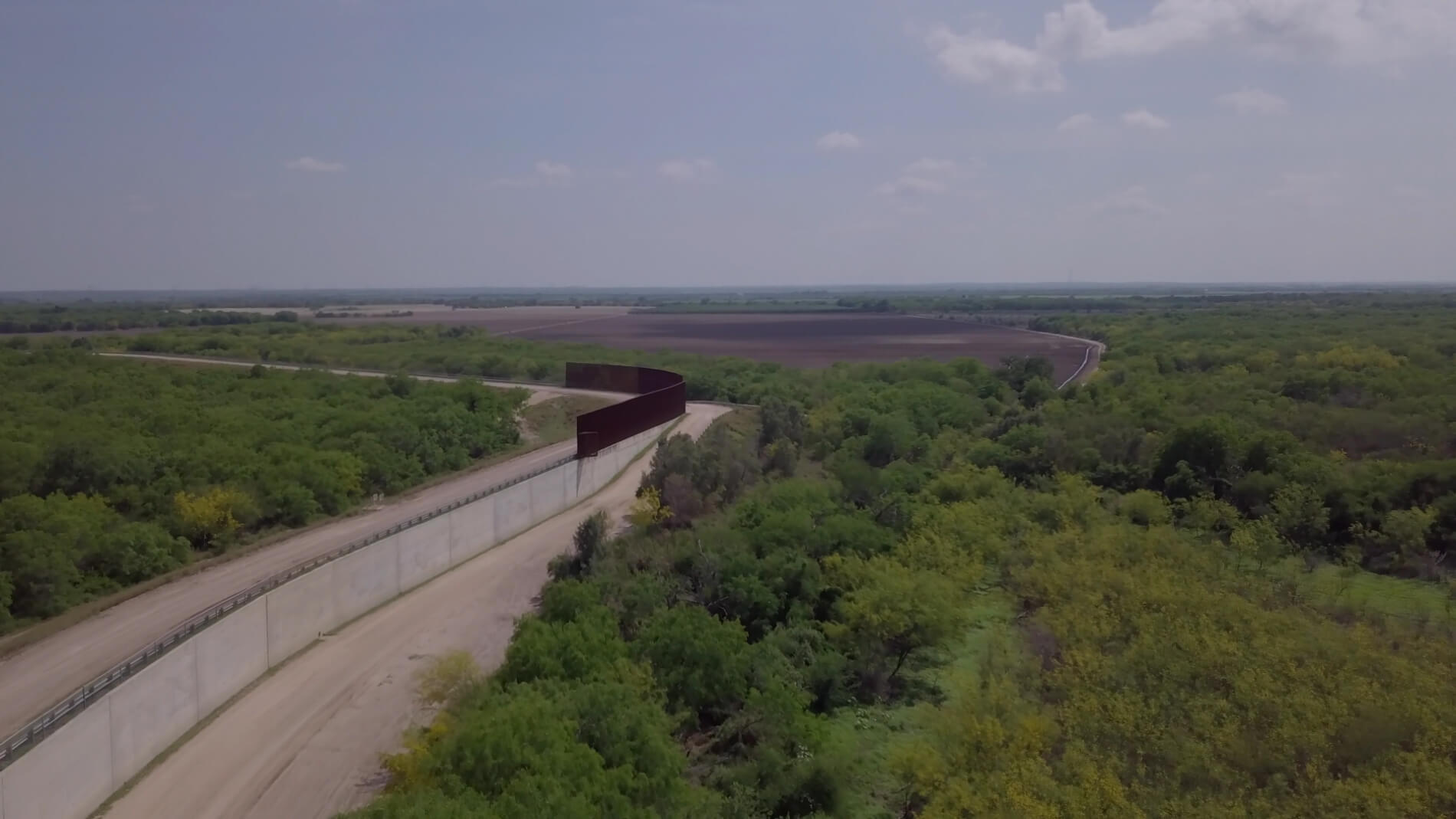 Section of Border wall in Rio Grande Valley.