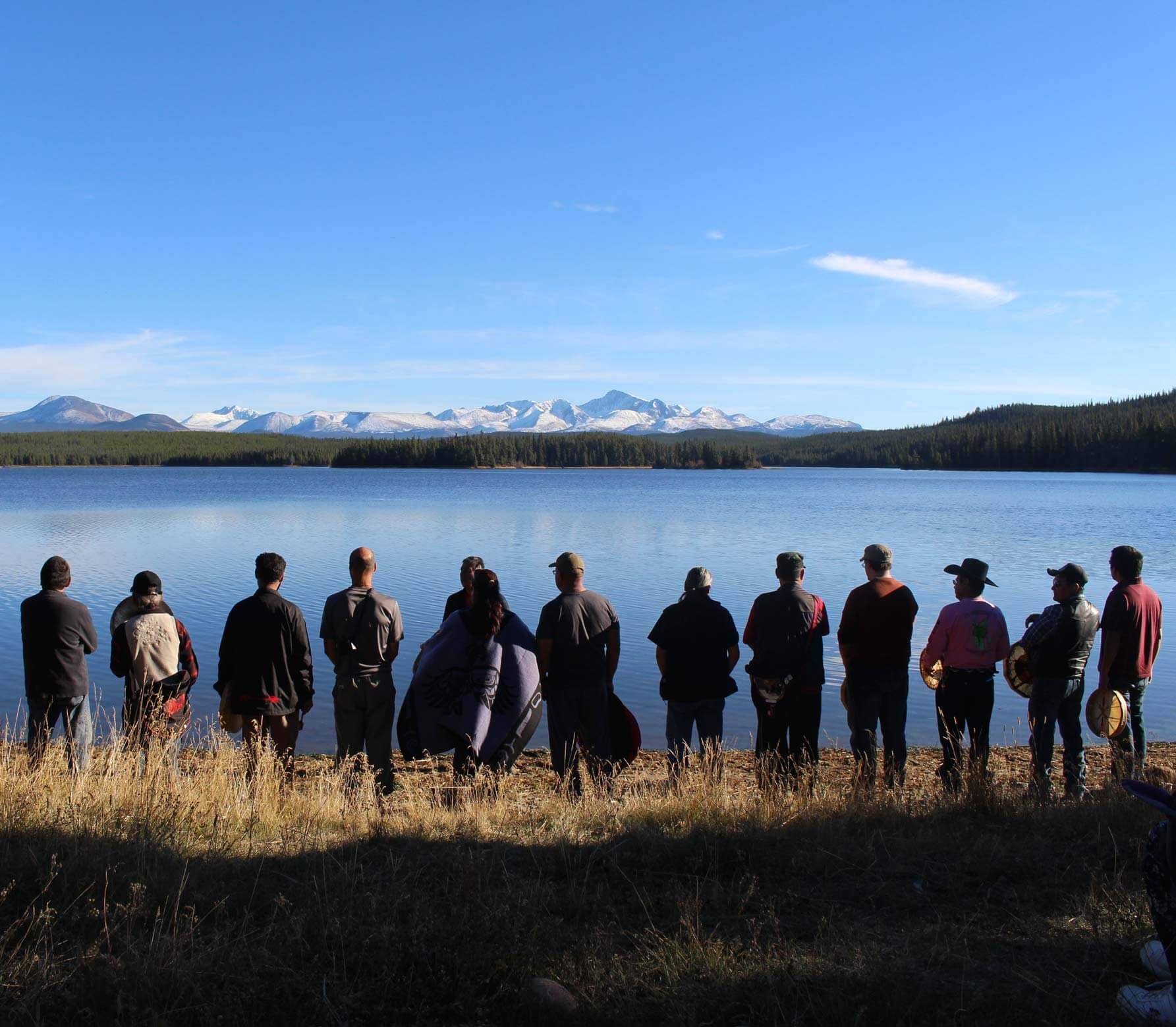 Tsilhqot'in community members at Teztan Biny (Fish Lake). (Tsilhqot'in National Government)