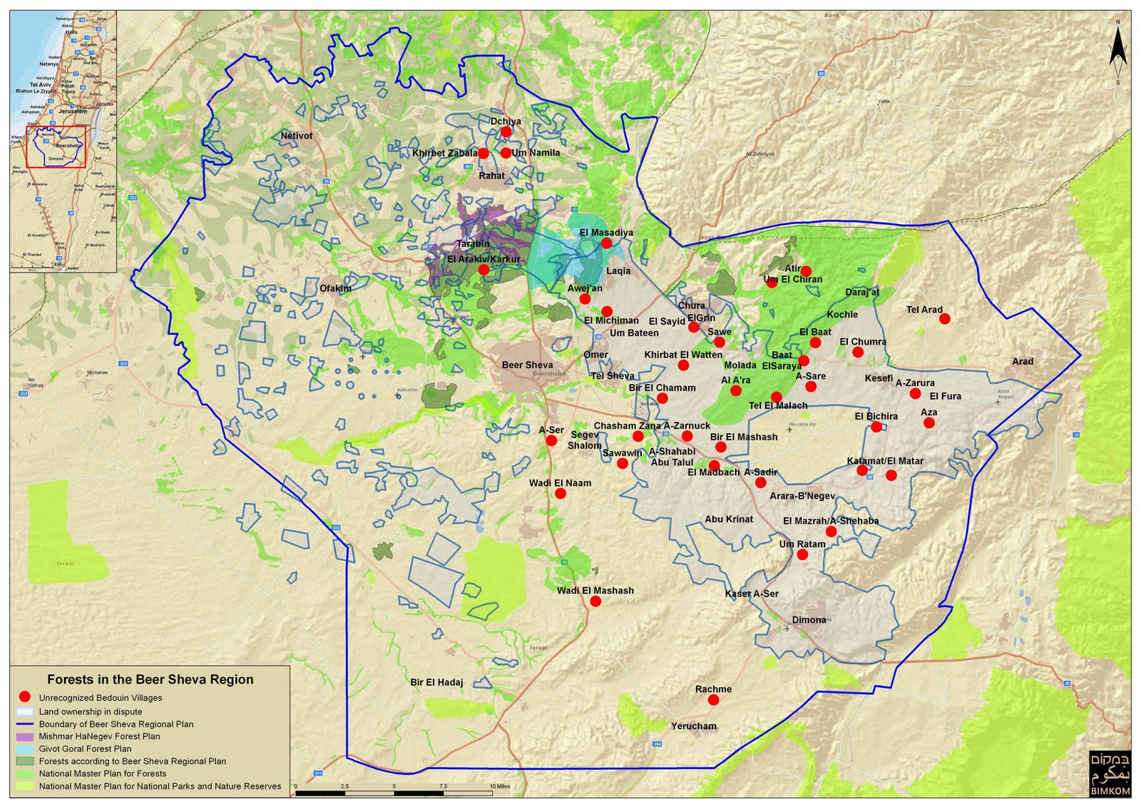 Israel To Forcibly Evict Bedouins From Ancestral Land - Negev desert map