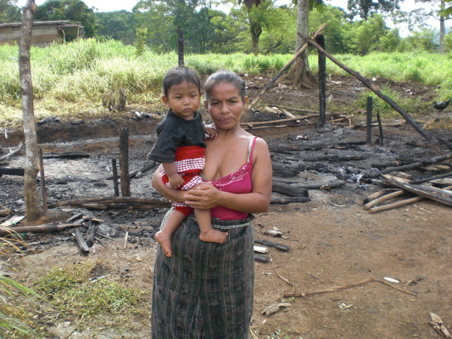 Jorge Armando Lopez Cuc, Nine Months Old, was Asleep in his Parents House when it was Set on Fire. Photo Guatemala Solidarity Project.