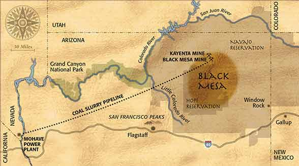 Navajo And Hopi Under Threat From Coal Mine Expansion At Black Mesa - Map of coal mines in the us