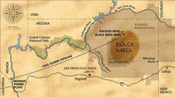 Navajo and Hopi under threat from coal mine expansion at Black Mesa