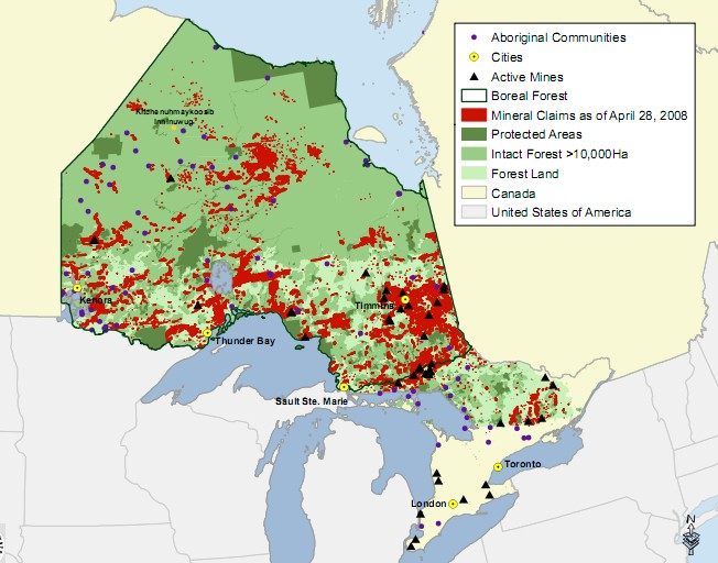how to buy land in northern ontario and quebec