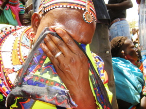 Samburu woman breaks down in tears over the violence and loss in her village
